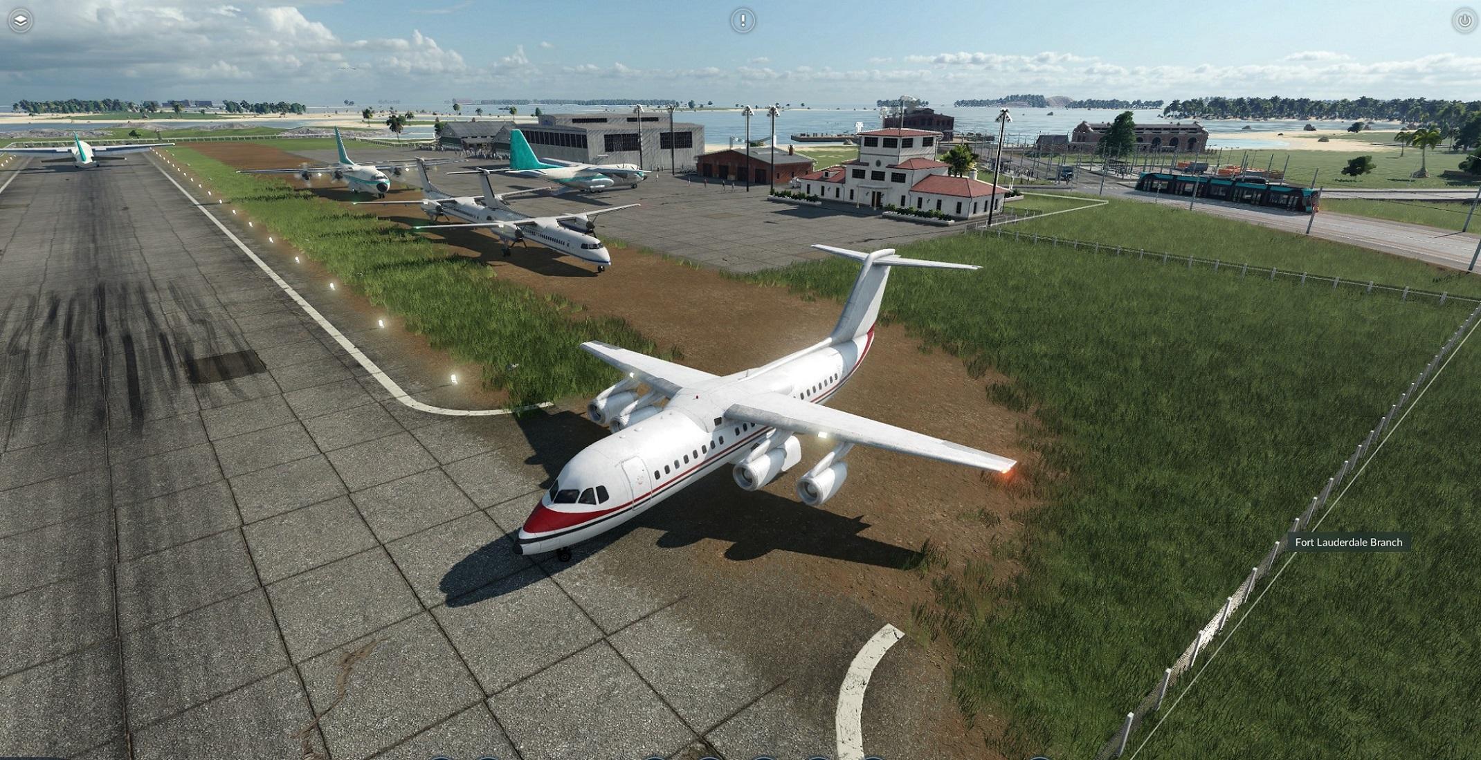 Transport Fever 2 - Bae-146 Short Field Use