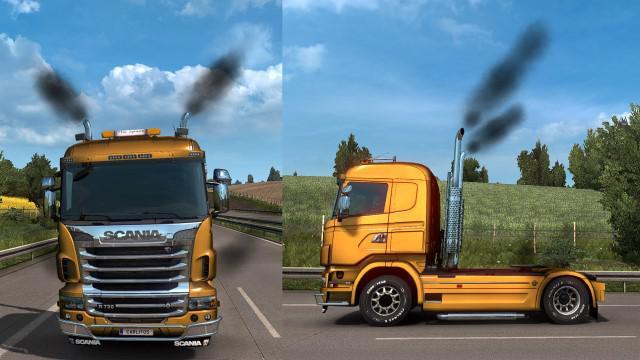 ETS2 - Smoke in My Trucks V1.0 (1.39.x)