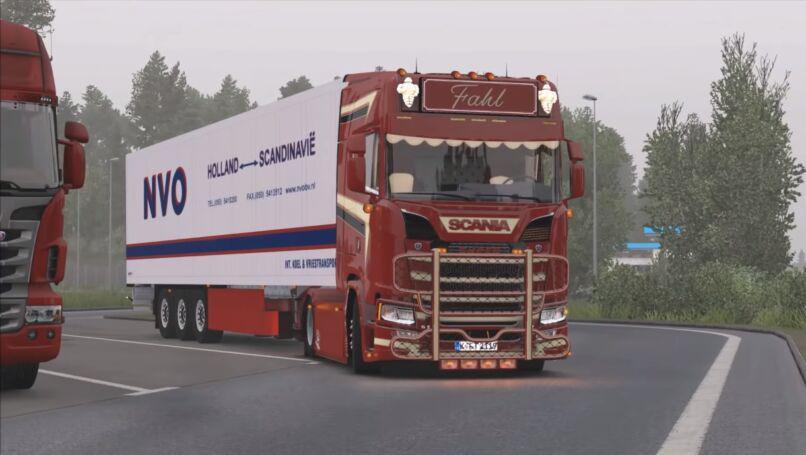 ETS2 - Scania S580 Fahl Transporte V3.0 (1.36.x)