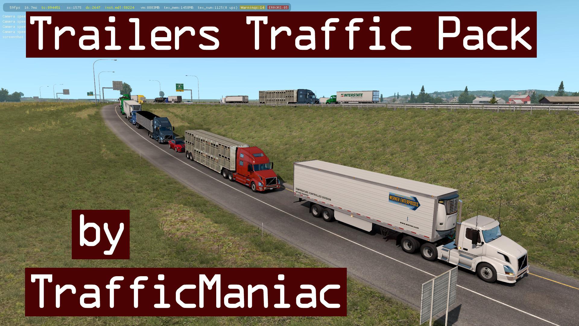 ATS - Trailers Traffic Pack V1.9 (1.36.X)