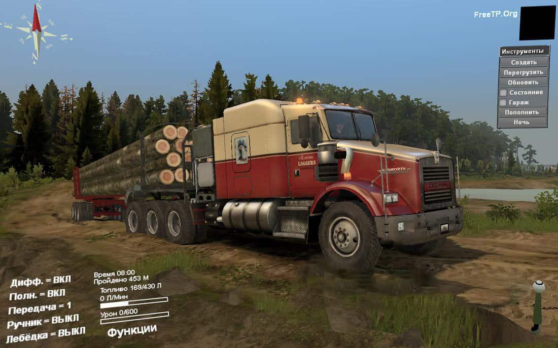 Spintires - Kenworth T800 Titan Rework Truck V1.0