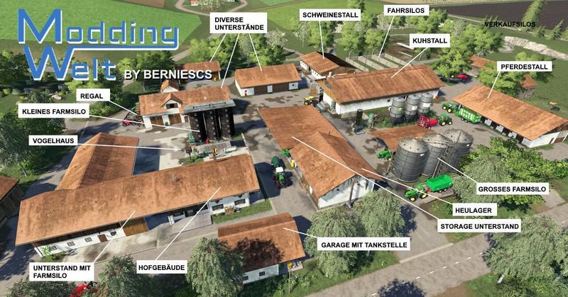 FS19 - MW Placeable Yard Sunny Edit V1.0