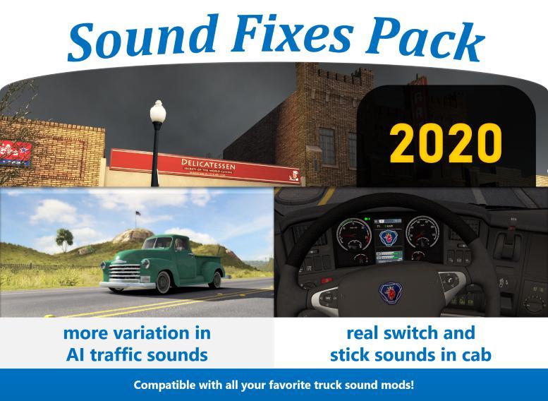 ETS2 - Sound Fixes Pack V20.0 (1.36.x)