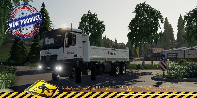 FS19 - Mercedes Arocs Benne Eiffage V1.5