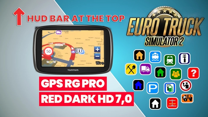 ETS2 - GPS RG Pro Red Dark HG V7.0 (1.40.x)