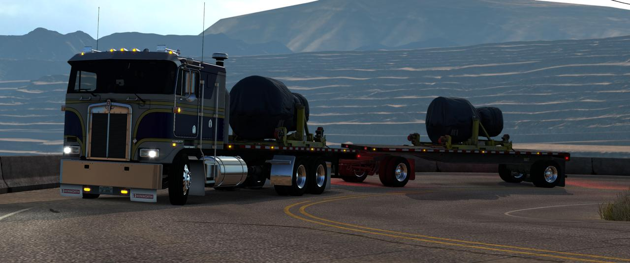 ATS - Kenworth K100E Truck and Trailer Add-on (1.36.x)