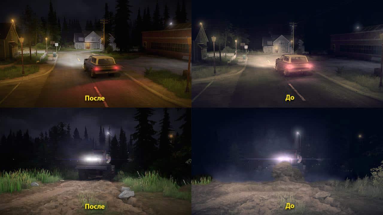 Spintires:Mudrunner - Realistic Graphics Adega Mod Pack V2.0