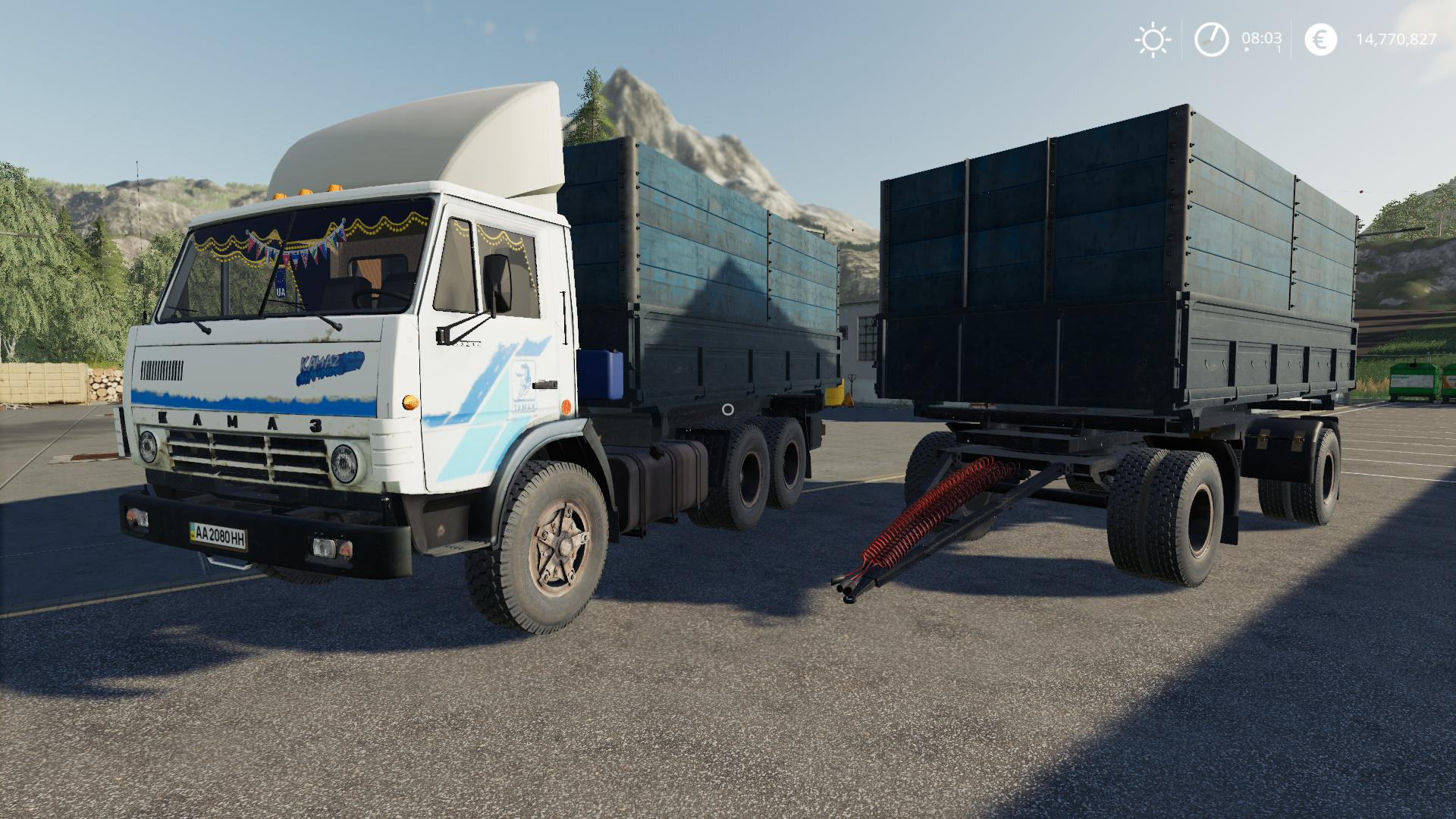 FS19 - Kamaz 5320 & Nefaz 8560 Autoload Pack V1.2