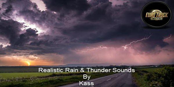 ETS2 - Realistic Rain & Thunder Sounds V3.6 (1.38.x)