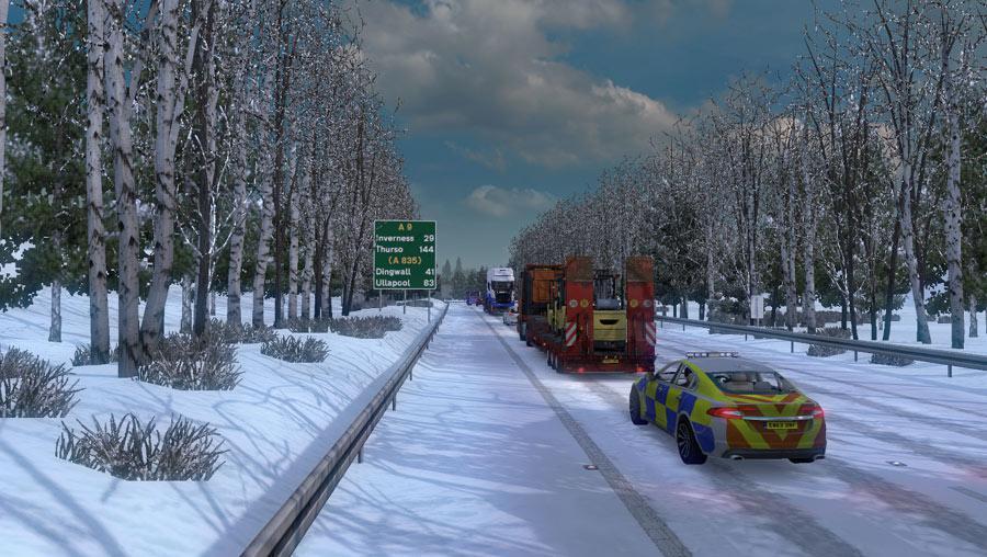 ETS2 - Frosty Winter Weather Mod V7.3 (1.36.x)