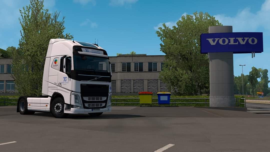 ETS2 - Volvo FH12 Eugene – Transportes Guardense V1.0 (1.36.x)