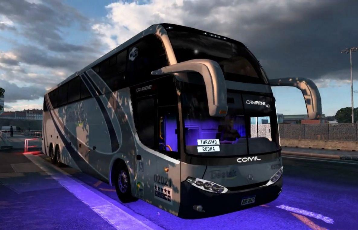 ETS2 - Mercedes-Benz Comil Campione HD 6x2 + Skins BR (1.40.x)
