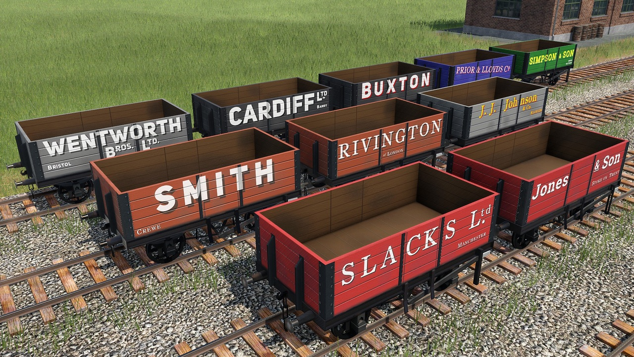 Transport Fever 2 - British Private Owners Open Waggons Addon
