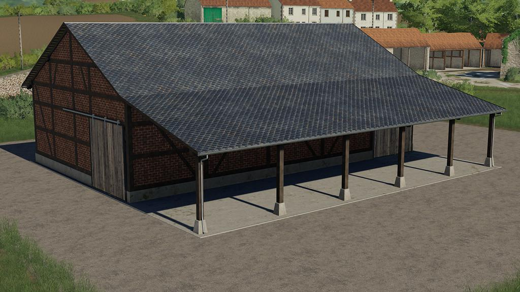 FS19 - Half-Timbered Barn V1.0