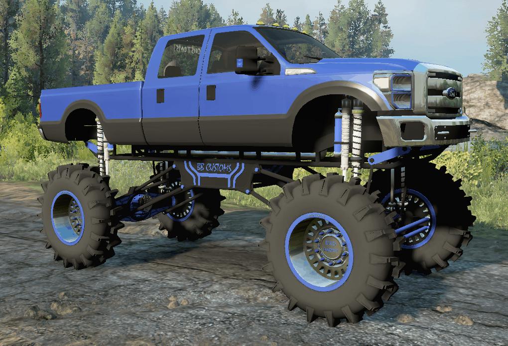 SnowRunner - BBCUSTOMS F-350 Diesel Mega Mud Truck V1.6.9