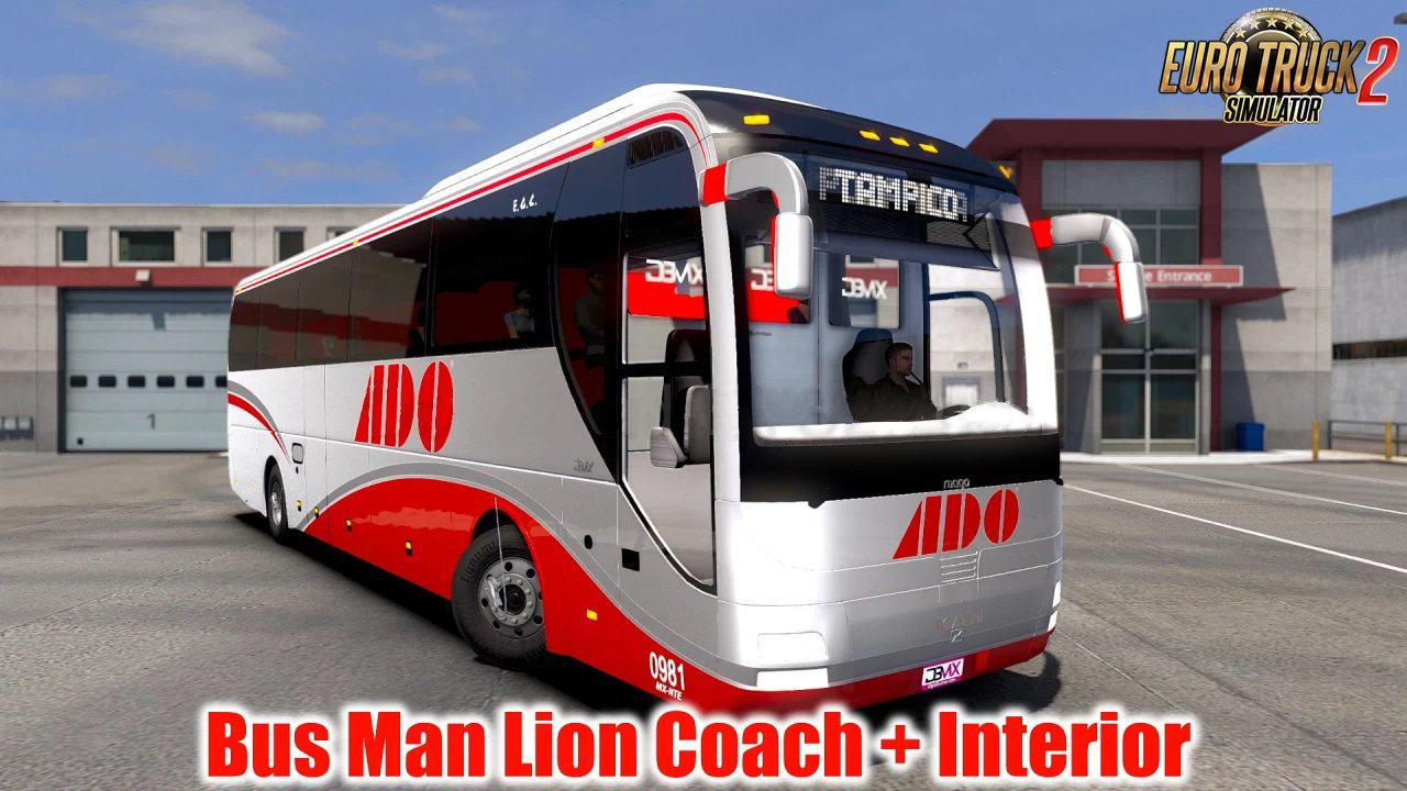 ETS2 - Man Lion Coach + Interior V1.5 (1.39.x)