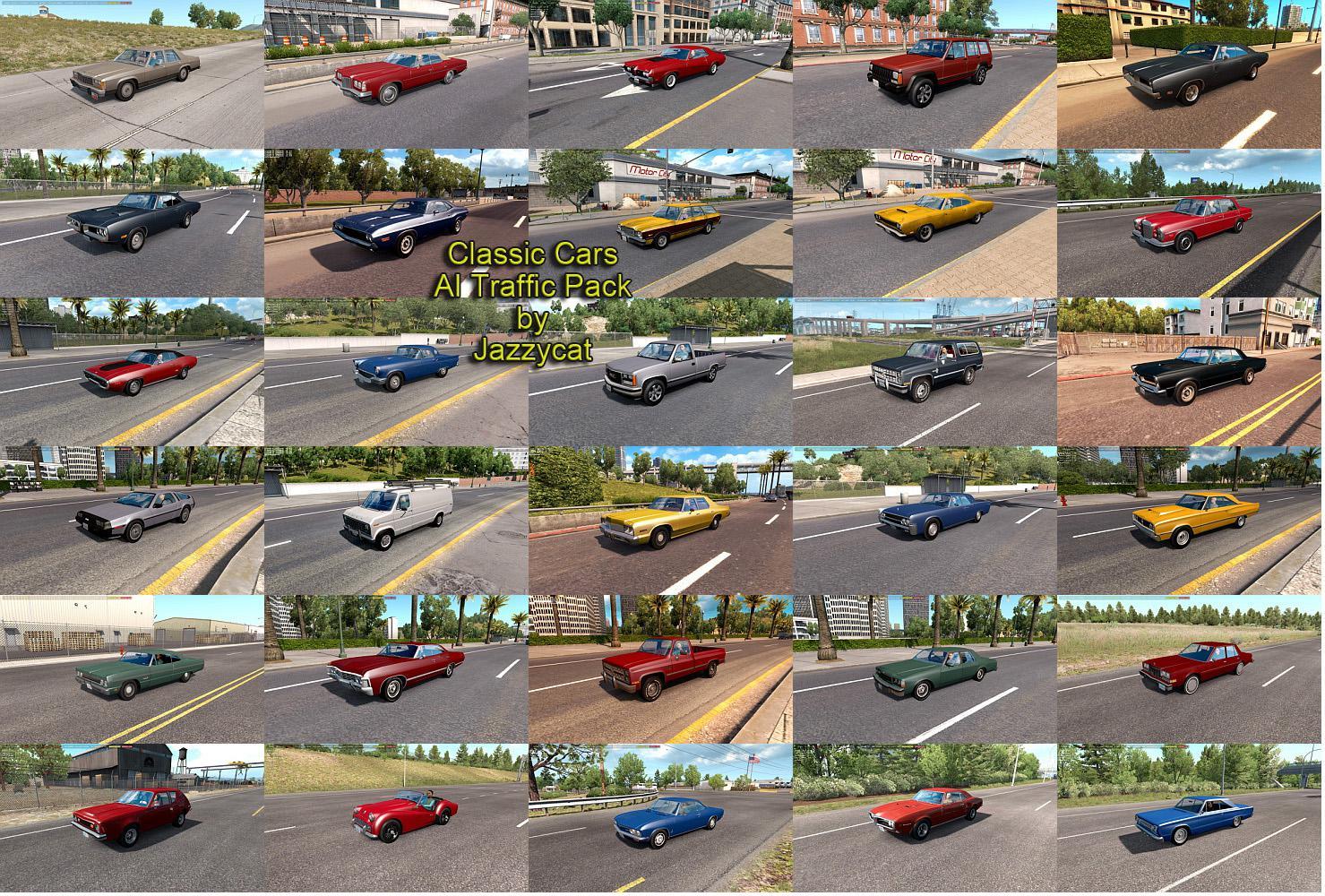 ATS - Classic Cars AI Traffic Pack V5.3 (1.36.x)