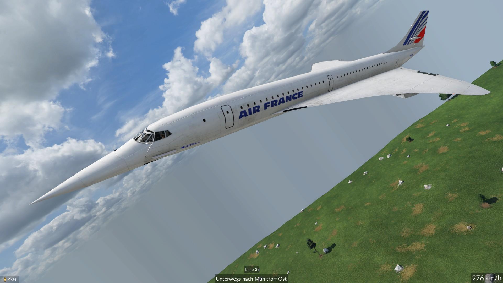 Transport Fever 2 - Concorde Plane