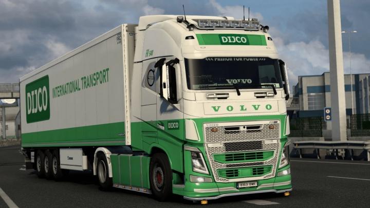 ETS2 - Volvo FH13 Dijco Transportes Skin V1.0 (1.41.x)