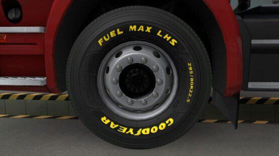 ETS2 - Goodyear Tires - Yellow Painted V1.1 (1.40.x)