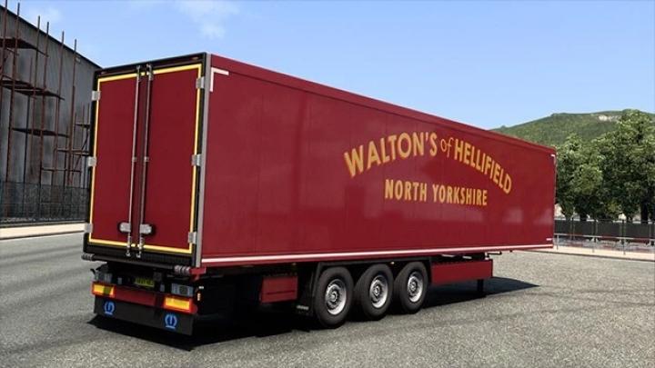 ETS2 - Waltons of Hellifield Scania S & Trailer Paint Job V1.0 (1.41.x)