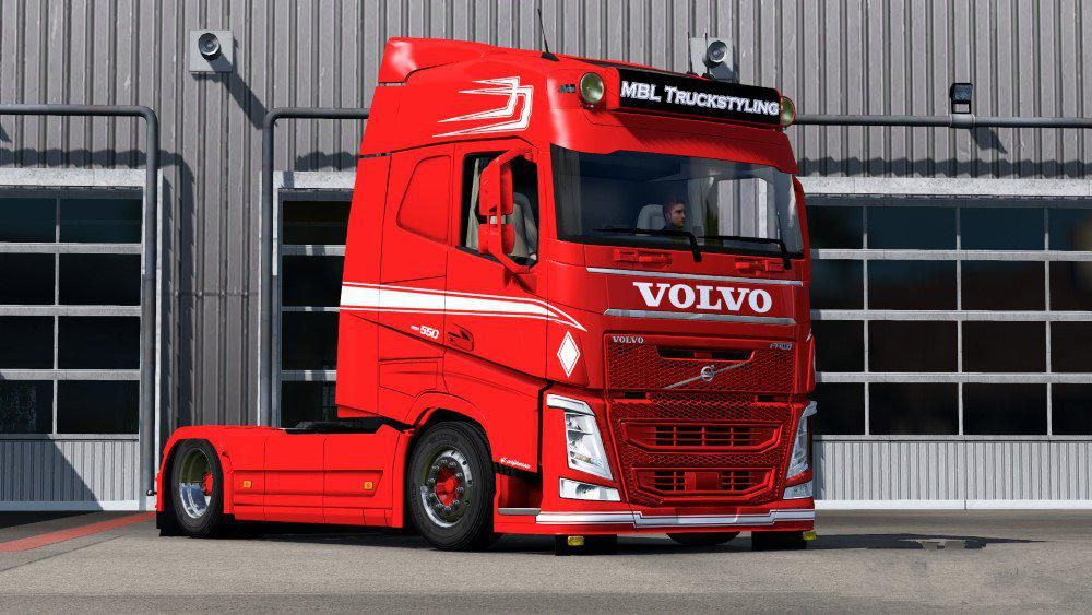 Volvo FH2012 Paintable MPT Style Skin V1.0 (1.37.x