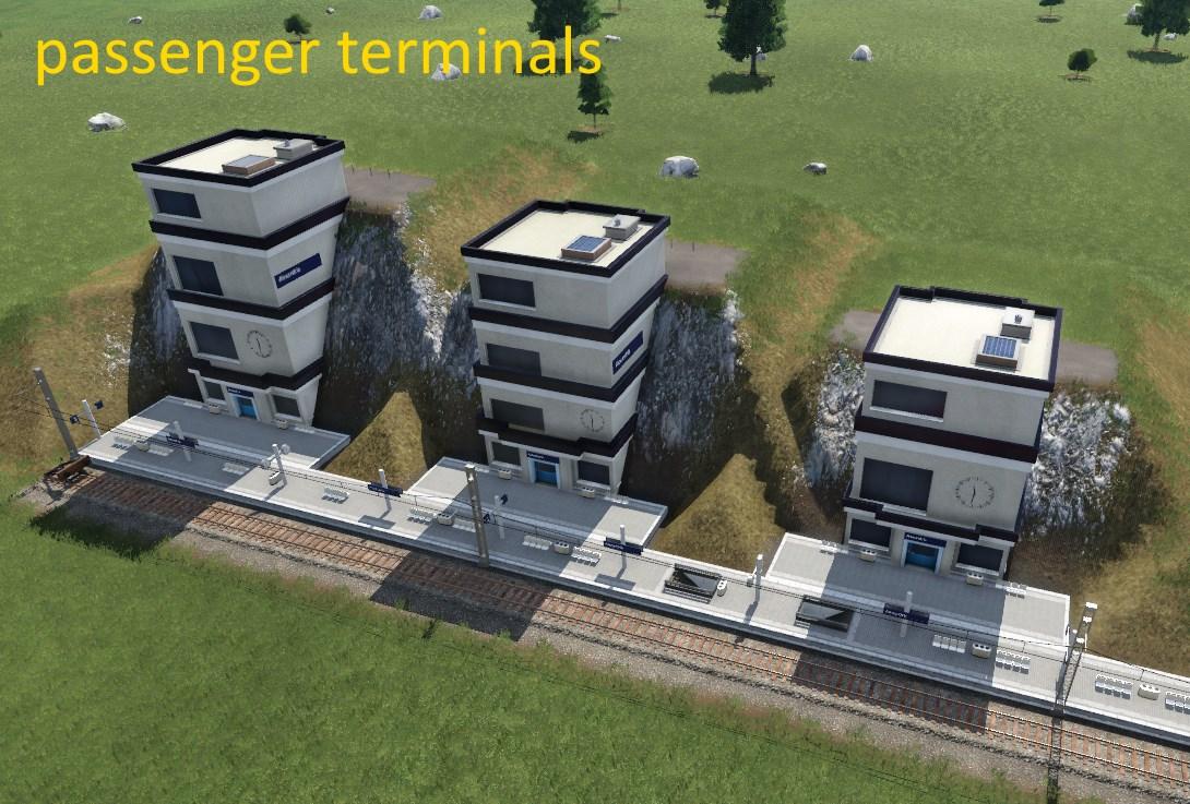 Transport Fever 2 - High Entrance Station Module