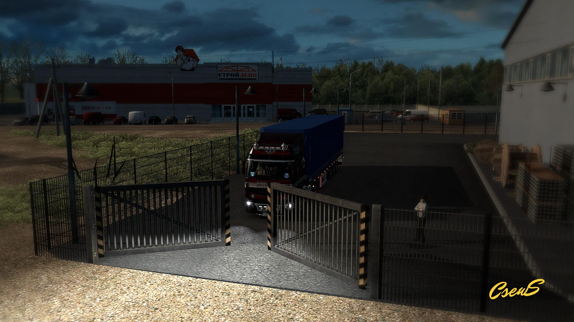 ETS2 - Animated Gates in Companies V3.8 (1.38.x)