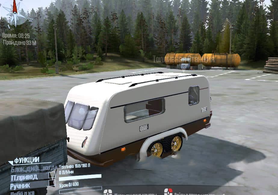 Spintires:Mudrunner - Caravan 2-Axle Trailer V01