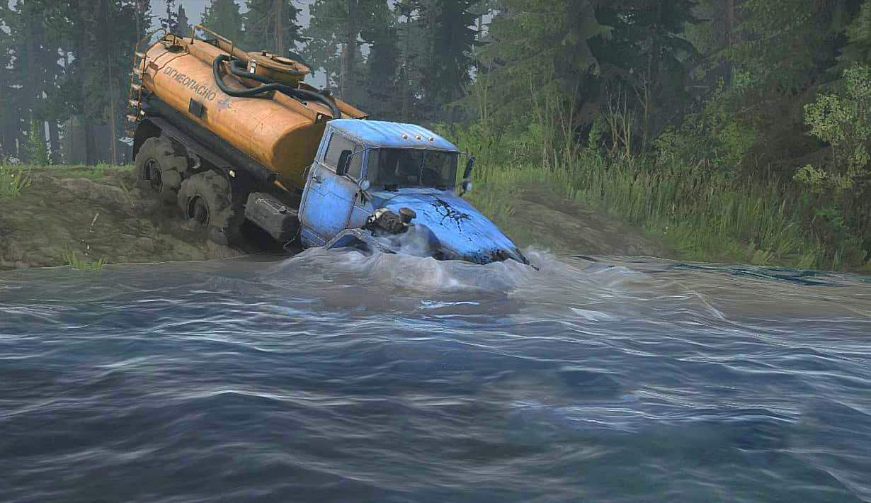 Spintires:Mudrunner - Taiga Oval Map V1.0
