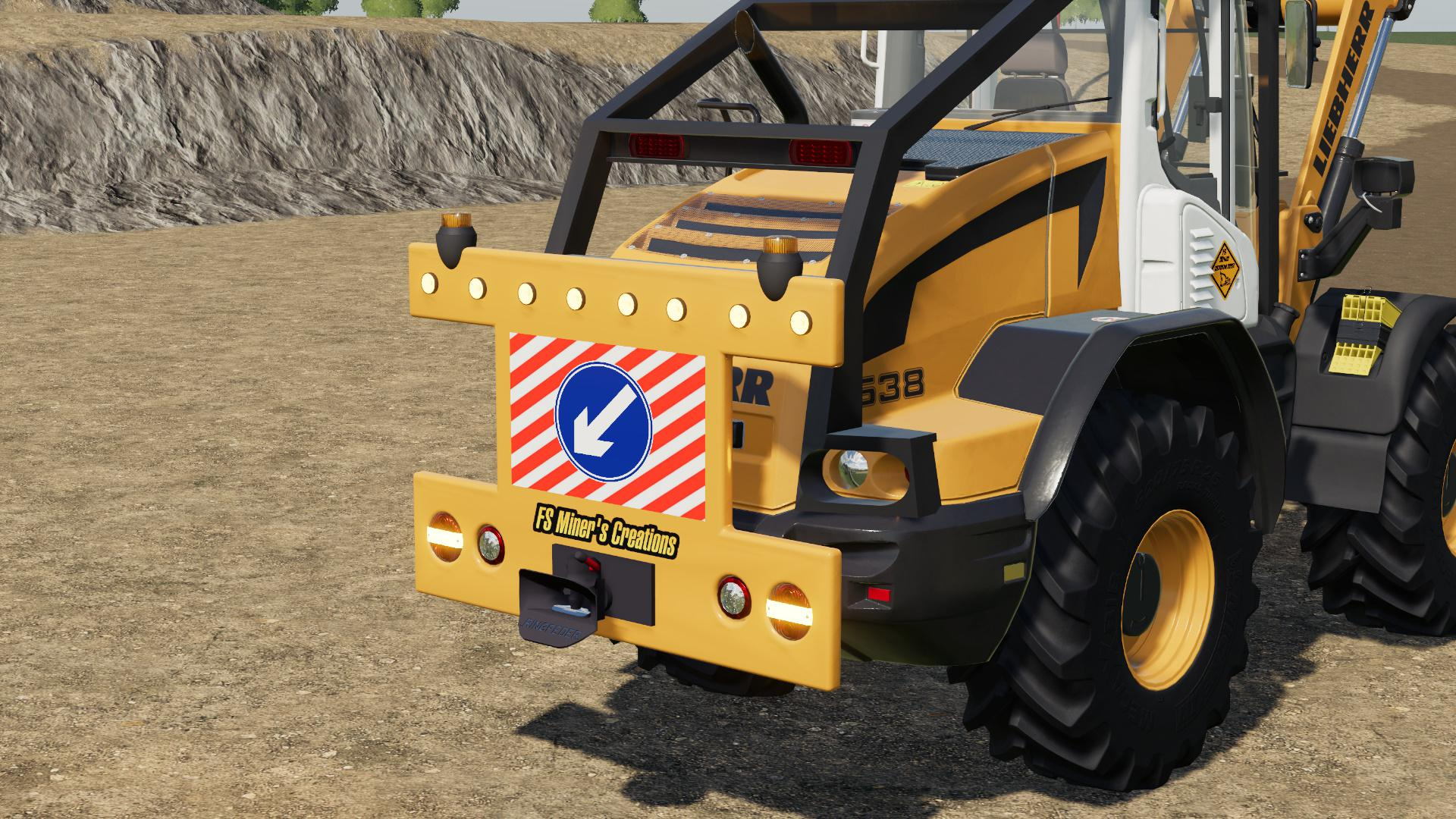 FS19 - Rear Warning Sign for Wheel Loaders V1.0