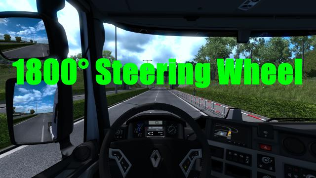 ETS2 - 1800 Steering Wheel (1.36.x)