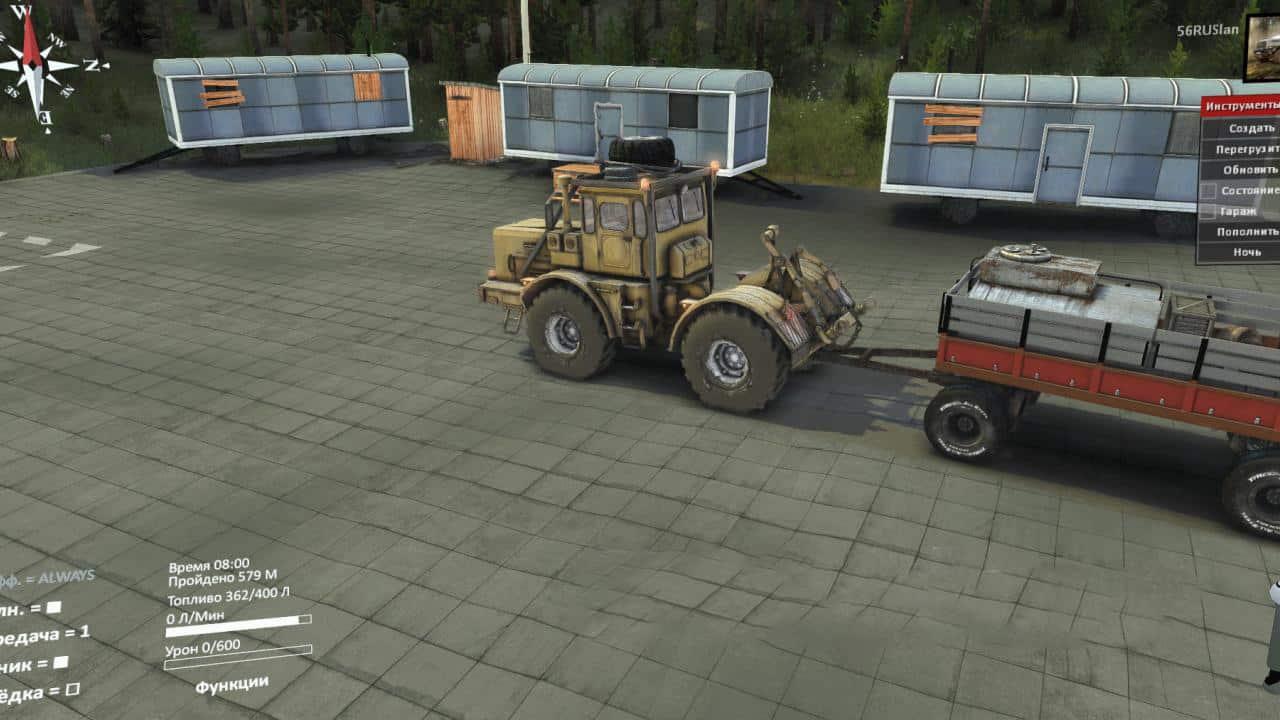 Spintires - Hitch Mod for Default K-700 V1.0