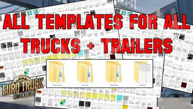 ETS2 - Complete Pack of Truck & Trailer Templates (1.35.X)