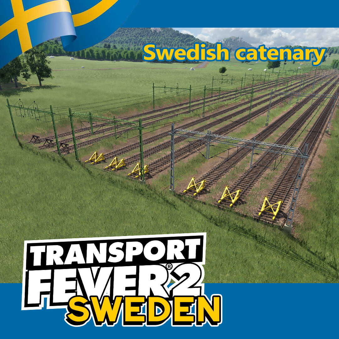Transport Fever 2 - Swedish Track and Catenary V1.0