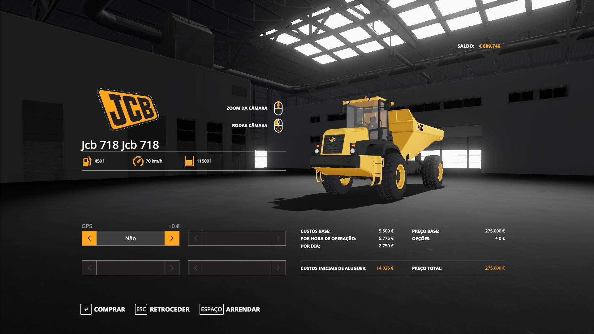 FS19 - JCB 718 / 722 Dumpers Pack V0.1
