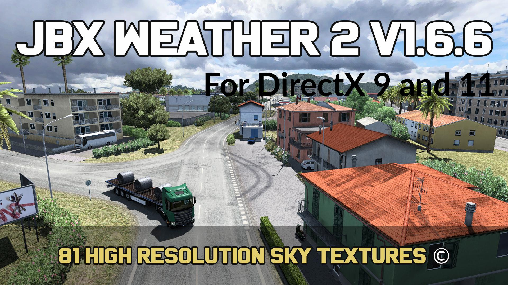 ETS2 - JBX Weather 2 V1.6.6.1 (1.37.x)