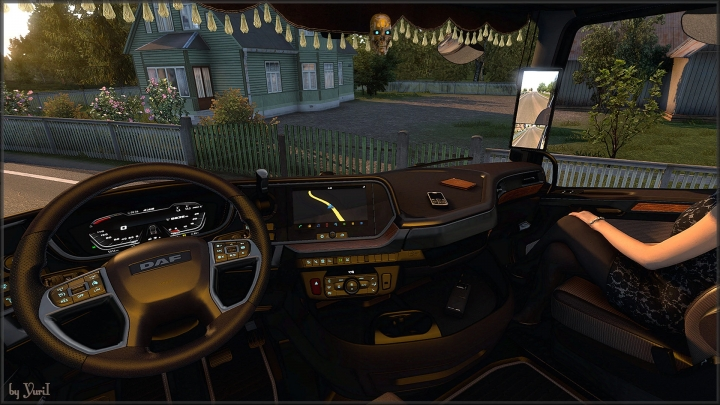 ETS2 - Dark Brown interior for DAF XG V0.8 (1.40.x)