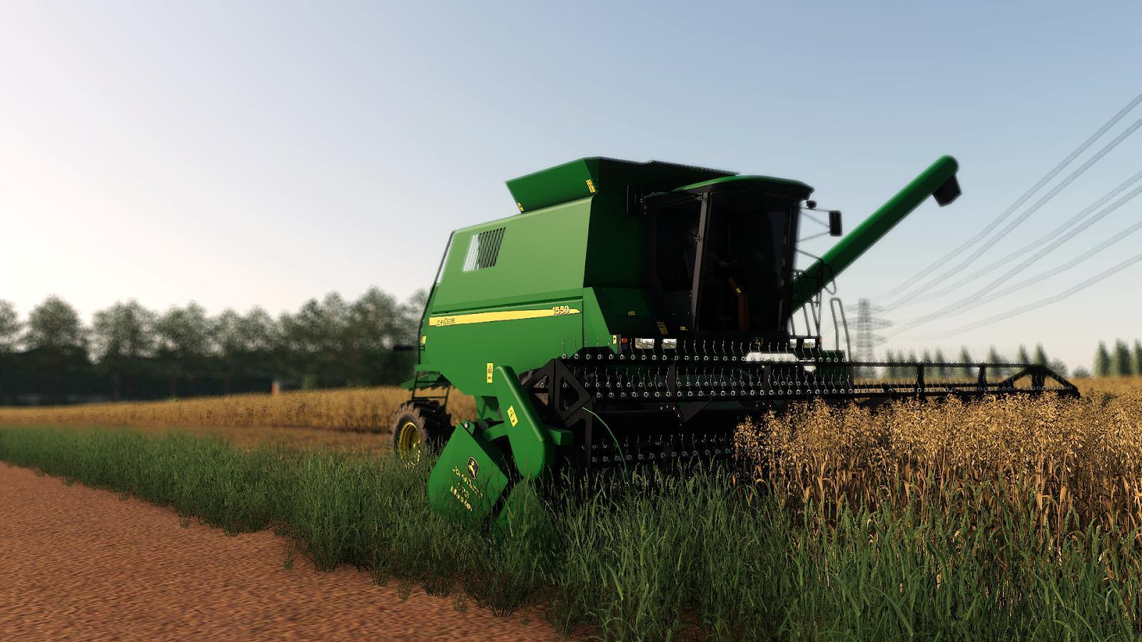 FS19 - John Deere 1550 Harvester Mod V1.0
