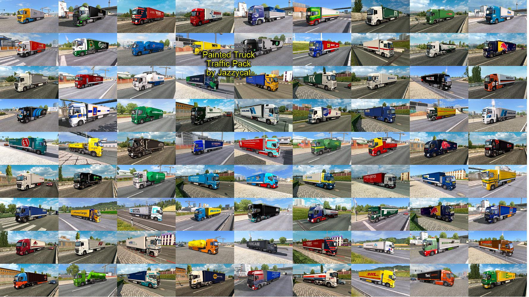 ETS2 - Painted Truck Traffic Pack V9.8 (1.36.x)