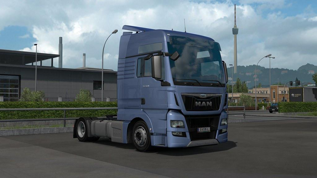 ETS2 - SCS Man Tgx E6 Low Deck Chassis Addon Mod V1.0 (1.35.X)