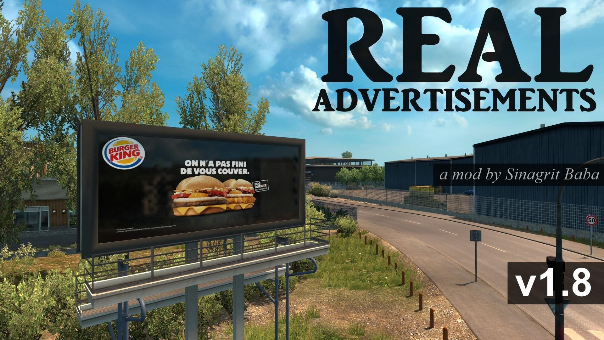 ETS2 - Real Advertisements V1.8 (1.35.X)