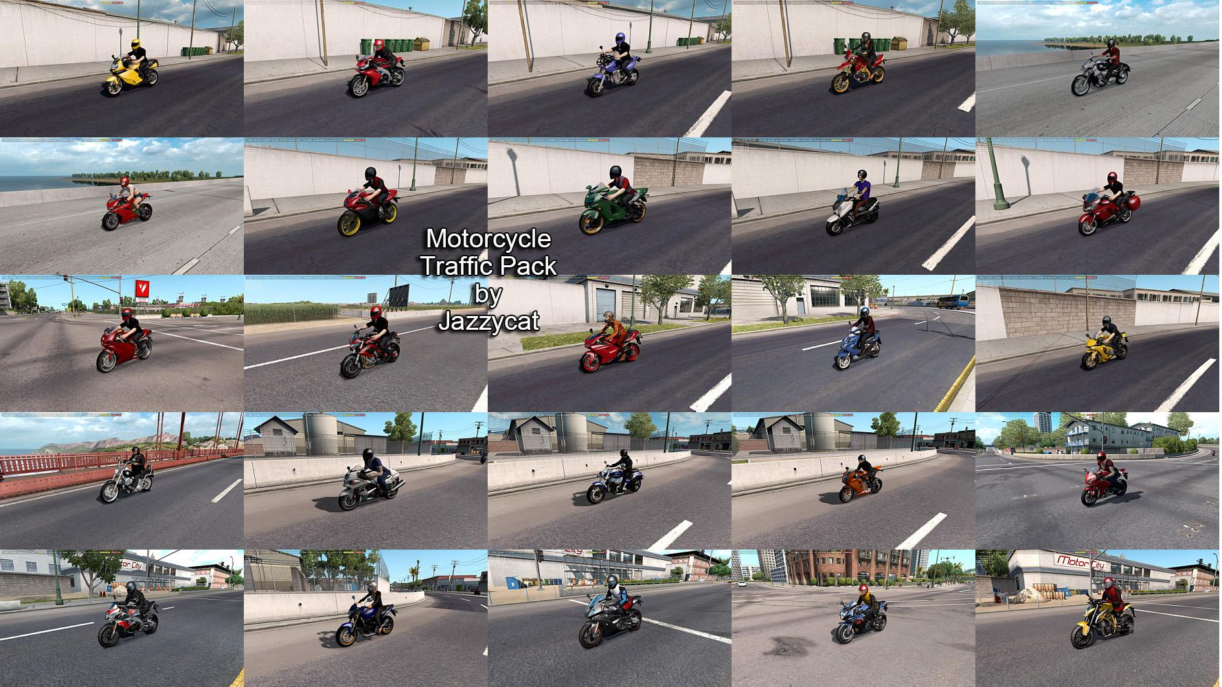 ATS - Motorcycle Traffic Pack V3.7 (1.35.x)