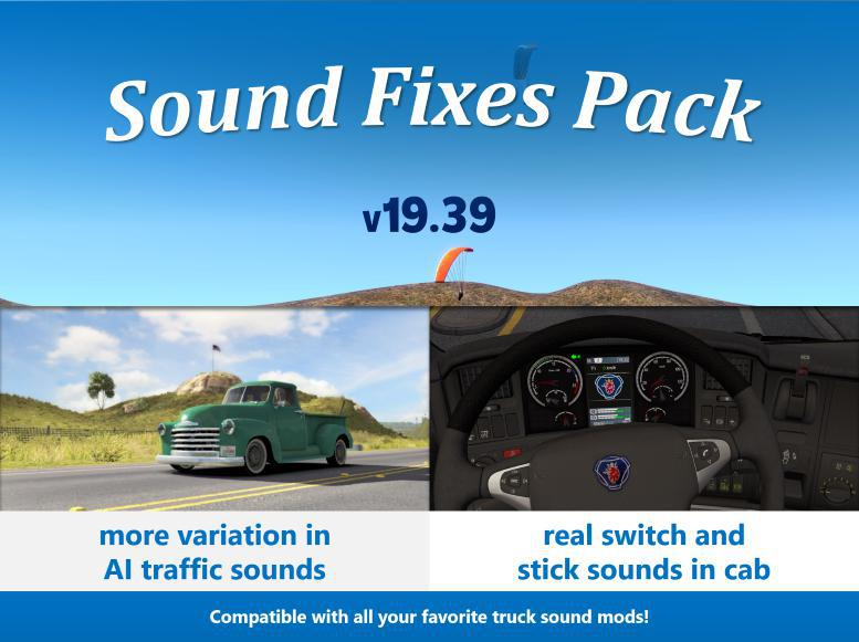 ATS - Sound Fixes Pack V19.39 (1.36.x)