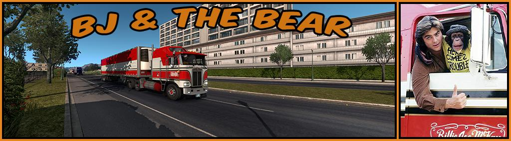 ATS - Kenworth K100E and Trailer BJ and The Bear Truck Skin V1.1 (1.36.x)