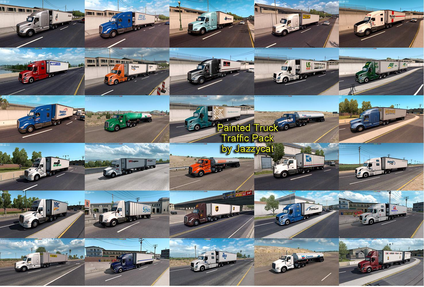 ATS - Painted Truck Traffic Pack V3.8 (1.36.x)