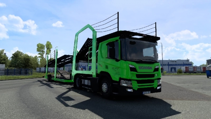 ETS2 - Scania P Cartransporter for Eugene Scania Pack V5.0 (1.40.x)