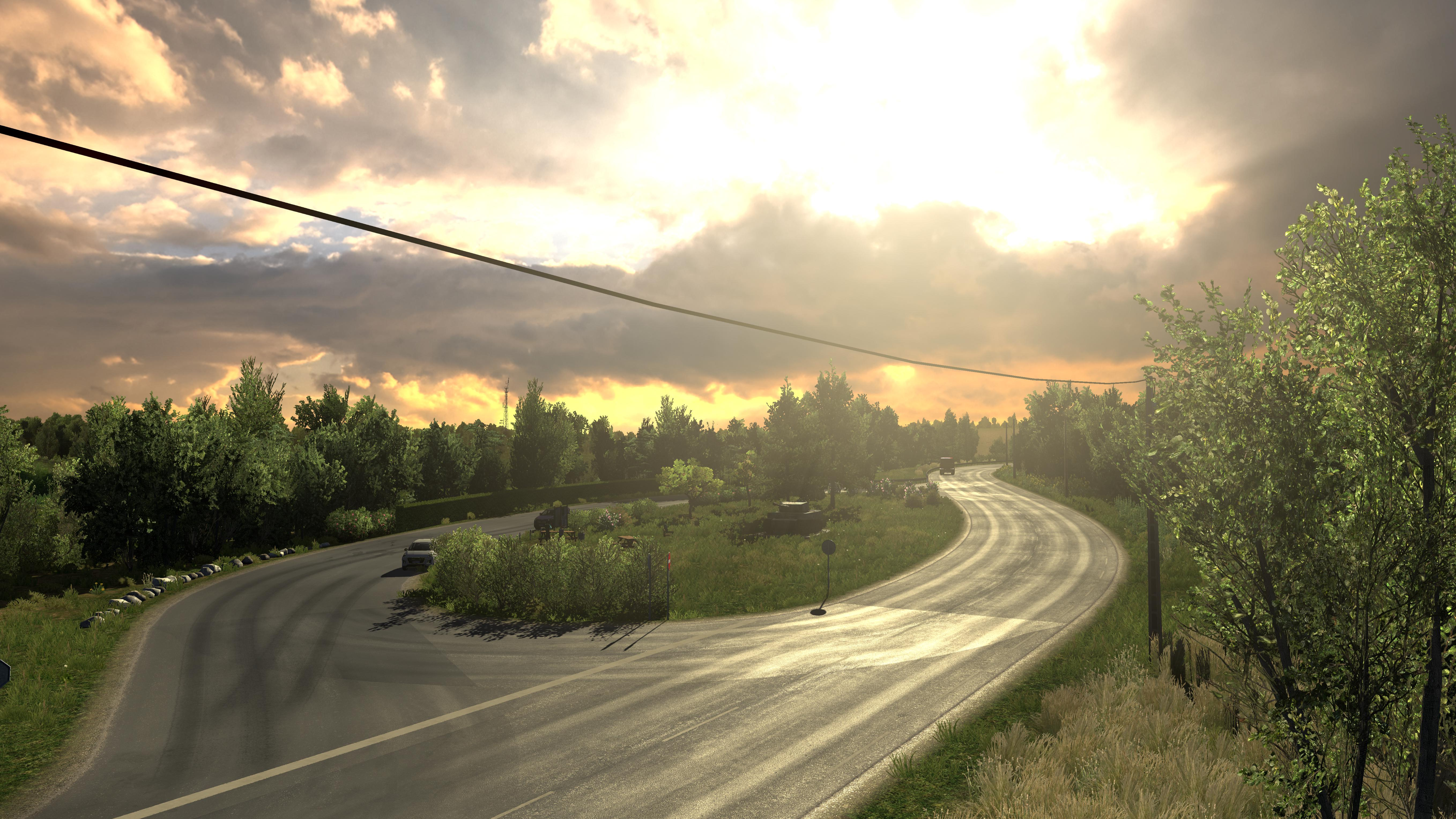 ETS2 - Natura Lux - Enhanced Graphics and Weather Mod (1.36.x)