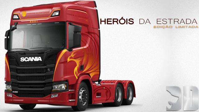 ETS2 - Scania Herois Da Estrada Skin V1 (1.37.x)