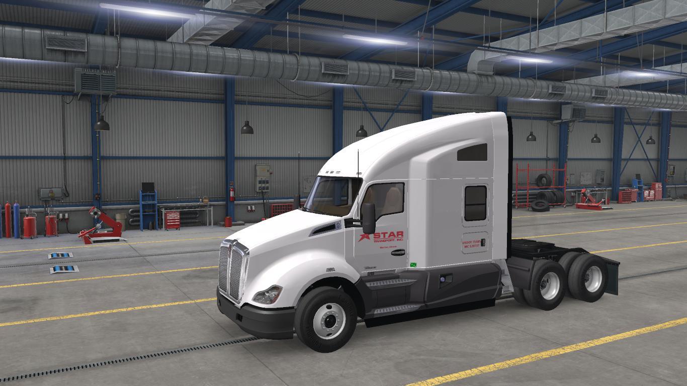 ATS - Star Transport Inc. Skins for SCS Default Trucks V2.2 (1.38.x)